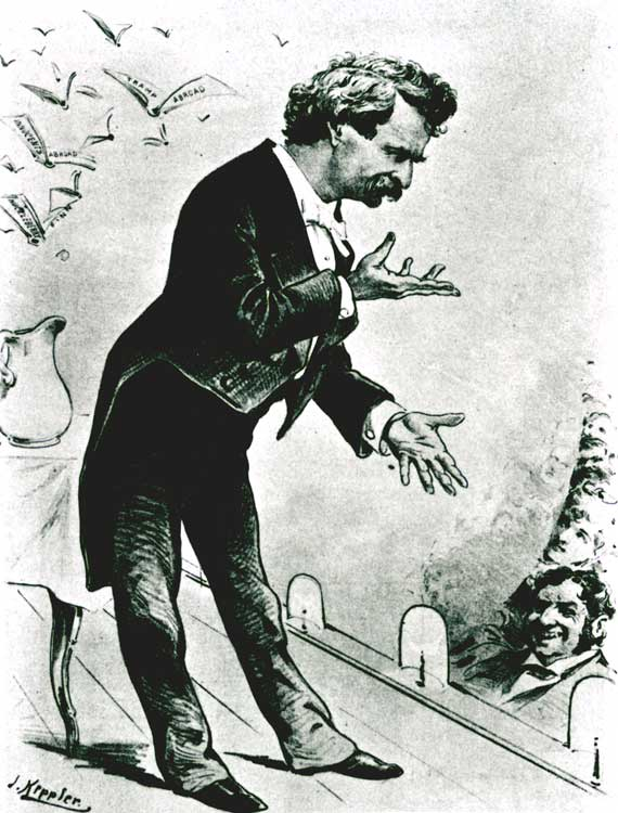 Mark Twain lecture cartoon
