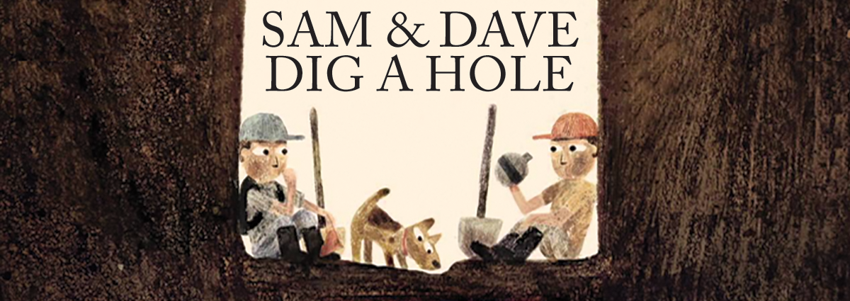 """Coterie Theatre artists read from Mac Barnett's and Jon Klassen's award-winning tale of two young boys looking – and digging – for something extraordinary. Young audience members can """"jump into the story,"""" adding their own improvisation."""