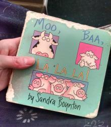 My daughter's personal copy of Moo, Baa, La La La! by Sandra Boynton.