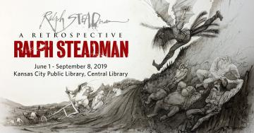 Artist Ralph Steadman is known for his creative collaboration with writer Hunter S. Thompson, matching outrageous illustrations to Thompson's gonzo writing. Beyond that partnership, Steadman's career spans over 60 years; this summer, the Library is among a few U.S. sites hosting a touring retrospective exhibit of over 100 of his original works.