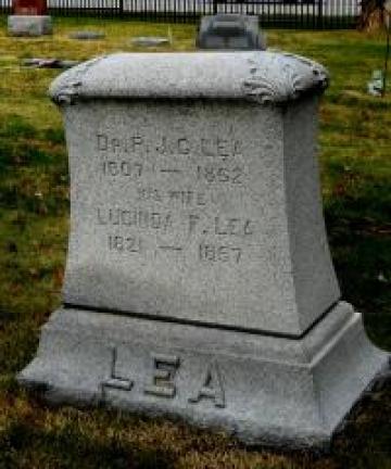Dr. Pleasant Lea's gravestone