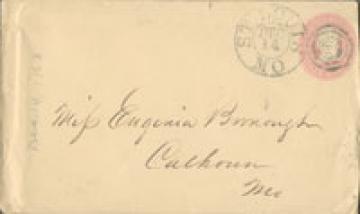 John Bushnell envelope 1863