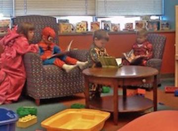 Halloween kids at Central Library