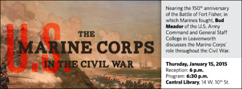 Nearing the 150th anniversary of the Battle of Fort Fisher, in which Marines fought, Bud Meador of the U.S. Army Command and General Staff College in Leavenworth discusses the Marine Corps' role throughout the Civil War.