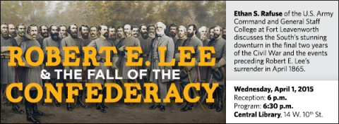 Ethan S. Rafuse of the U.S. Army Command and General Staff College at Fort Leavenworth discusses the South's stunning downturn in the final two years of the Civil War and the events preceding Robert E. Lee's surrender in April 1865.
