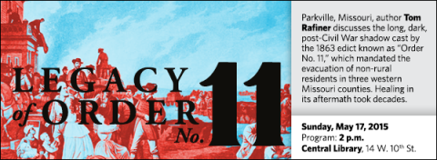 """Parkville, Missouri, author Tom Rafiner discusses the long, dark, post-Civil War shadow cast by the 1863 edict known as """"Order No. 11,"""" which mandated the evacuation of non-rural residents in three western Missouri counties. Healing in its aftermath took decades."""