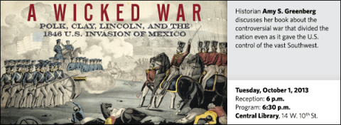 Historian Amy S. Greenberg discusses her book about the controversial war that divided the nation even as it gave the U.S. control of the vast Southwest.