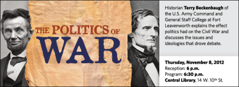 Historian Terry Beckenbaugh of the U.S. Army Command and General Staff College at Fort Leavenworth explains the effect politics had on the Civil War and discusses the issues and ideologies that drove debate.