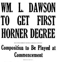 Dawson get first Horner Degree