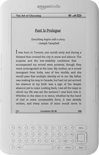 Kindle - white