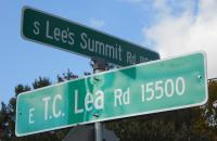 Lees Summit and TC Lea Crossroad sign