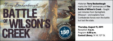 Historian Terry Beckenbaugh marks the 150th anniversary of The Battle of Wilson's Creek – fought just minutes from Springfield, Missouri – and explains how Confederate forces won the battle but lost the state.