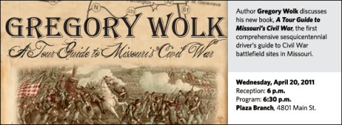 Author Gregory Wolk discusses his new book, A Tour Guide to Missouri's Civil War, the first comprehensive sesquicentennial driver's guide to Civil War battlefield sites in Missouri.