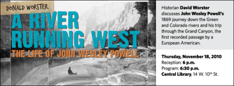 Historian David Worster discusses John Wesley Powell's 1869 journey down the Green and Colorado rivers and his trip through the Grand Canyon, the first recorded passage by a European American.