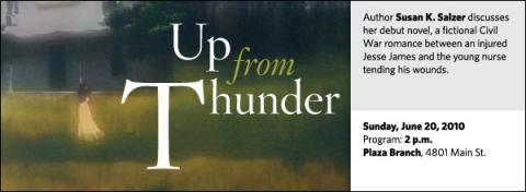 Author Susan K. Salzer discusses her debut novel, a fictional Civil War romance between an injured Jesse James and the young nurse tending his wounds.