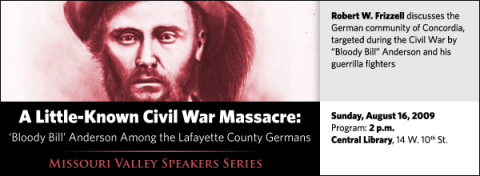 """Robert W. Frizzell discusses the German community of Concordia, targeted during the Civil War by """"Bloody Bill"""" Anderson and his guerrilla fighters"""