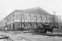 Construction view of Convention Hall, 1900