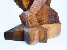 Abstract Sculpture, artist's signature