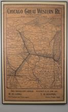 Chicago Great Western Railway Route Map