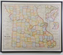 Cram's Superior Map of Missouri