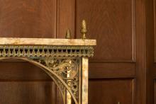 Etagere, brass detail
