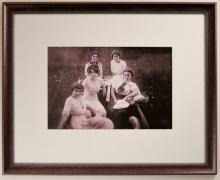 Portrait of Hixon's Sister with Friends, Little Blue River