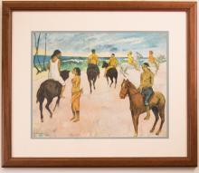 Reproduction of Gauguin's Riders on the Beach II