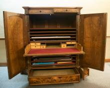 Victorian Cabinet, fully open