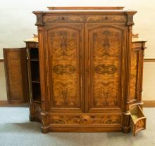Victorian Cabinet, partially open