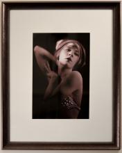 Portrait of Ernestine Myers in Pearl Bralette