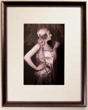 Portrait of Grace La Rue with Patterned Wall