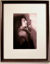 Portrait of Unknown Vaudevillian Actress in Black