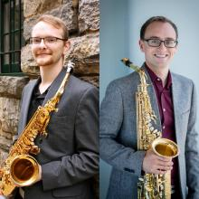 Dionysus Saxophone Duo Ali Wright and Dylan Ward