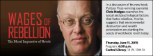In a discussion of his new book, Pulitzer Prize-winning journalist Chris Hedges examines the social and psychological factors that foster rebellion. And he suggests that environmental destruction and wealth polarization are planting the seeds of worldwide revolt today.