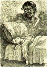 """Tom Dreams"" illus. by True Williams, from the 1876 1st. ed."