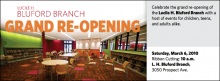 Celebrate the grand re-opening of the Lucile H. Bluford Branch with a host of events for children, teens, and adults alike.