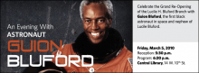 Celebrate the Grand Re-Opening  of the Lucile H. Bluford Branch with  Guion Bluford, the first black astronaut in space and nephew of Lucile Bluford.