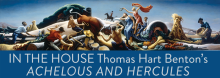 "Henry Adams, one of the country's preeminent authorities on Thomas Hart Benton, looks at the history of Benton's bold, 22-foot-long mural ""Achelous and Hercules,"" which once adorned Kansas City's downtown Harzfeld's Department Store. A full-size reproduction now hangs in the Central Library."