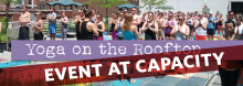 Lauren Leduc, founder and teacher of Kansas City's Karma Tribe Yoga, leads a relaxing, rejuvenating session on the Rooftop Terrace. It's suitable for all skill levels.