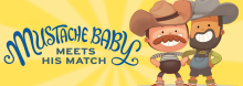 Coterie Theatre artists resume their monthly interactive story times for children and their parents, reading from Mustache Baby Meets His Match, Bridget Heos' amusing tale of two newly acquainted toddlers and their battles of will and facial hair.