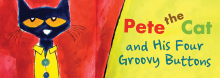 Coterie Theatre artists resume their monthly interactive story times for children and their parents, reading from Eric Litwin's Pete the Cat and His Four Groovy Buttons. It tells the story of the mellow blue cat and his reactions to losing the four buttons on his shirt.