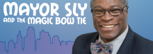 Kansas City Mayor Sly James joins daughter Aja James and her co-author, Audrey Masoner, in a discussion of their new children's picture book Mayor Sly and the Magic Bow Tie. It stars the mayor as a present-day guide to some of the city's memorable locations, landmarks, and historical figures.
