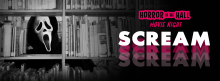 The Young Friends of the Library host a night of Halloween-season cinema after hours in the Central Library. Join us for some scares among the shelves in Kirk Hall as we show the meta-horror classic SCREAM (1996, R, 1h 51 min).