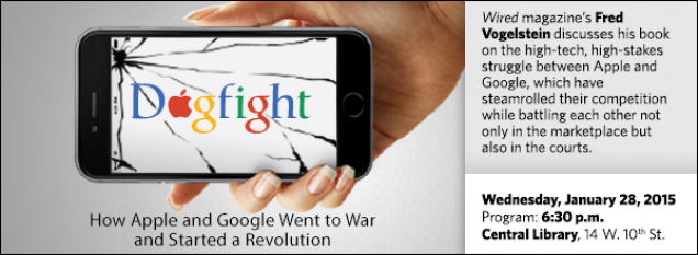 Wired magazine's Fred Vogelstein discusses his book on the high-tech, high-stakes struggle between Apple and Google, which have steamrolled their competition while battling each other not only in the marketplace but also in the courts.