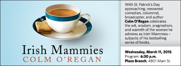 With St. Patrick's Day approaching, renowned comedian, columnist, broadcaster, and author  Colm O'Regan celebrates  the wit, wisdom, pragmatism, and warmth of the women he admires as Irish Mammies – subjects of his bestselling series of books.
