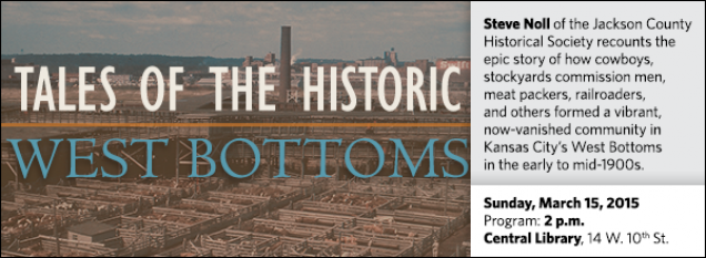 Steve Noll of the Jackson County Historical Society recounts the epic story of how cowboys, stockyards commission men, meat packers, railroaders, and others formed a vibrant, now-vanished community in Kansas City's West Bottoms in the early to mid-1900s.
