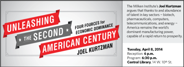 The Milken Institute's Joel Kurtzman argues that thanks to an abundance of talent in key sectors ¬ biotech, pharmaceuticals, computers, telecommunications, and energy ¬ America remains the world's dominant manufacturing power, capable of a rapid return to prosperity.