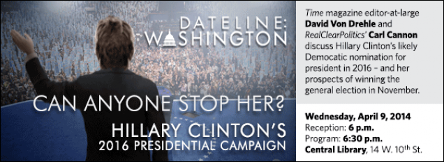 Time magazine editor-at-large David Von Drehle and RealClearPolitics' Carl Cannon discuss Hillary Clinton's likely Democatic nomination for president in 2016 – and her prospects of winning the general election in November.