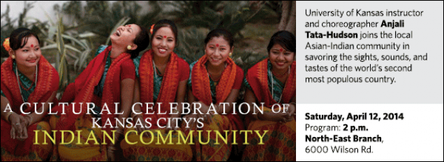 University of Kansas instructor and choreographer Anjali Tata-Hudson joins the local Asian-Indian community in savoring the sights, sounds, and tastes of the world's second most populous country.