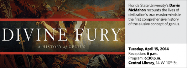 Florida State University's Darrin McMahon recounts the lives of civilization's true masterminds in the first comprehensive history of the elusive concept of genius.